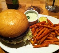 Zinburger with Sweet Potato Fries