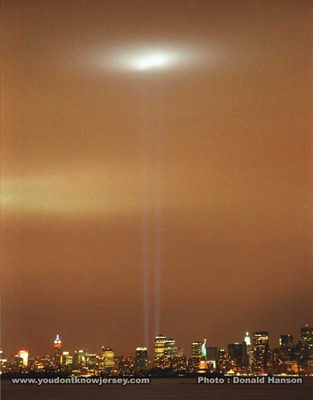 Tribute in Light from Bayonne, NJ