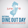 Today is National Dine Out Day Benefiting the New Jersey Huricane Sandy Relief Fund
